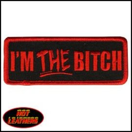 Hot Leather Patch Im The Bitch 4in