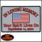 Hot Leather Patch In Loving Memory 4in