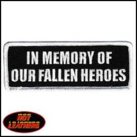 Hot Leather Patch In Memory Fallen Heroes 4in
