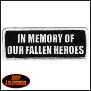 Hot Leather Patch In Memory Fallen Heroes 4in