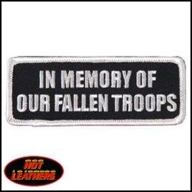 Hot Leather Patch In Memory Fallen Troops 4in