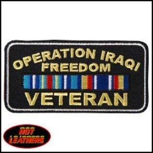 Hot Leather Patch Iraqi Freedom 4in