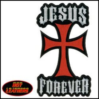 Hot Leather Patch Jesus Forever 11in