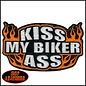 Hot Leather Patch Kiss My Biker Ass 4in