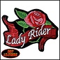 Hot Leather Patch Lady Rider 4in