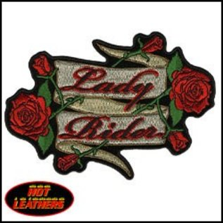 Hot Leather Patch Lady Rider Roses 5in