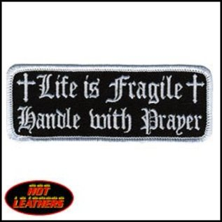 Hot Leather Patch Life Is Fragile 4in