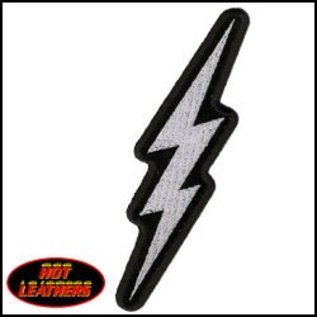 Hot Leather Patch Lightening Bolt