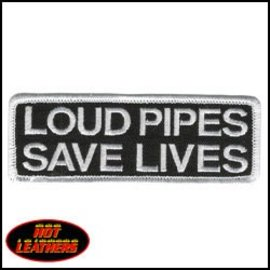 Hot Leather Patch Loud Pipes Save Lives 4in