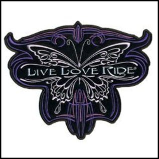 Hot Leather Patch Metallic Butterfly 5in