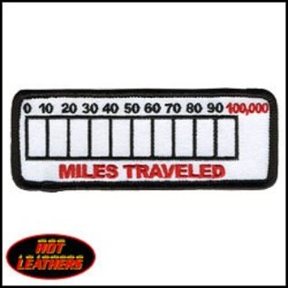 Hot Leather Patch Miles Traveled 4in