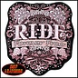 Hot Leather Patch Mod Art w/ Rhinestones 4in