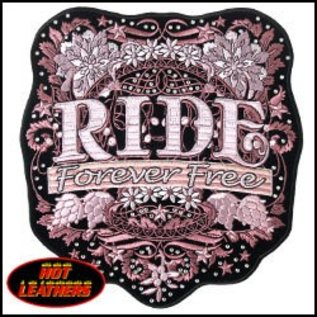 Hot Leather Patch Mod Art w/ Rhinestones 9in