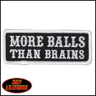 Hot Leather Patch More Balls Than Brains 4in