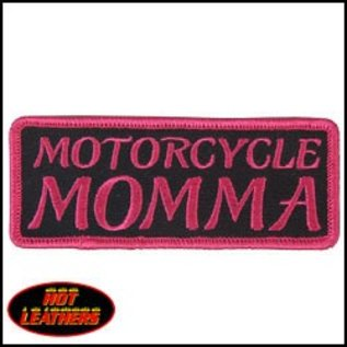Hot Leather Patch Motorcycle Momma 4in