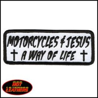 Hot Leather Patch Motorcycles & Jesus 4in
