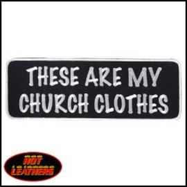 Hot Leather Patch My Church Clothes 4in