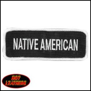 Hot Leather Patch Native American 4in