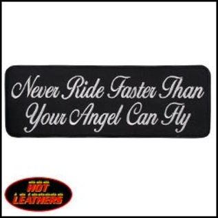 Hot Leather Patch Never Ride Faster 10in