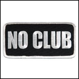 Hot Leather Patch No Club 4in