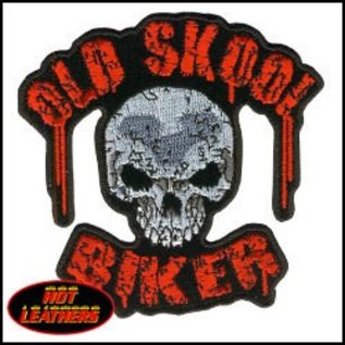 Hot Leather Patch Old School Biker 11in