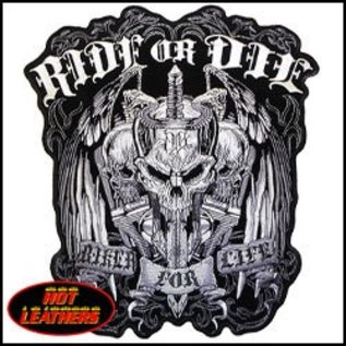Hot Leather Patch Ride Or Die 12in