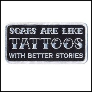 Hot Leather Patch Scars Are Like Tattoos 4in
