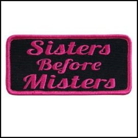 Hot Leather Patch Sisters Before Misters 4in
