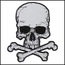 Hot Leather Patch Skull & Crossbones 12in