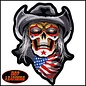 Hot Leather Patch Skull Cowboy Clown 12in
