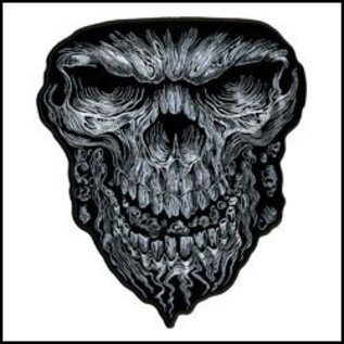 Hot Leather Patch Skull Face 5in