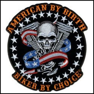 Hot Leather *DISCV Patch Skull Motor 4in