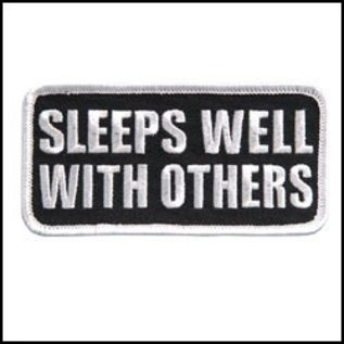 Hot Leather Patch Sleeps Well With Others 4in