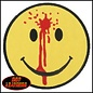 Hot Leather Patch Smiley Face Bullet Hole 3in