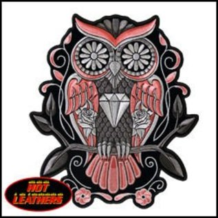 Hot Leather Patch Sugar Owl 9in