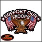 Hot Leather Patch Support Our Troops 11in