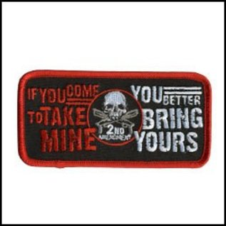 Hot Leather Patch Take Mine 4in
