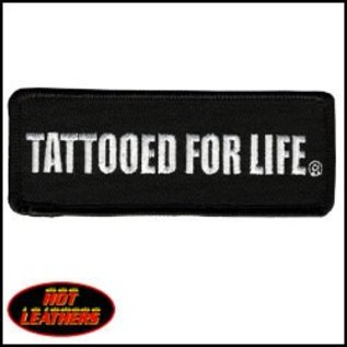 Hot Leather Patch Tattooed For Life 4in