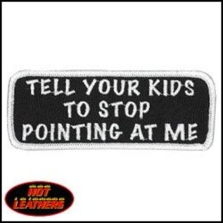 Hot Leather Patch Tell Your Kid To Stop 4in