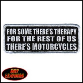 Hot Leather Patch Theres Motorcycles 4in
