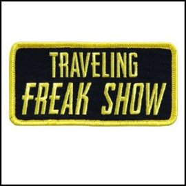 Hot Leather Patch Traveling Freak Show 4in