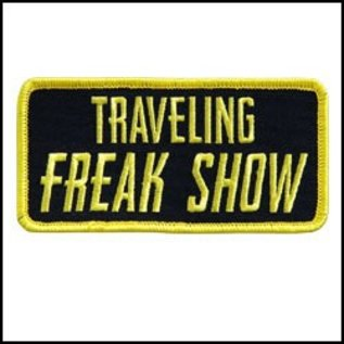 Route 66 Biker Gear Patch Traveling Freak Show 4in