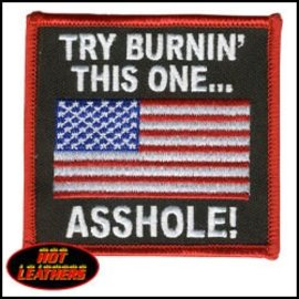 Hot Leather Patch Try Burn This One 3in