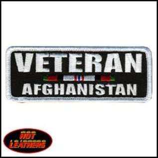 Hot Leather Patch Veteran Afganistan 4in