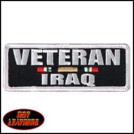 Hot Leather Patch Veteran Iraq 4in