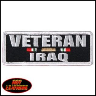 Hot Leather Patch Veteran Iraq 4in