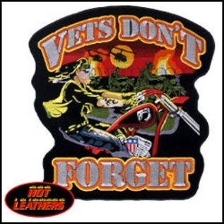 Hot Leather Patch Vets Don't Forget 12in