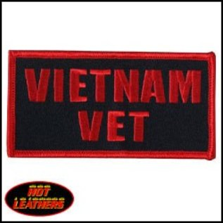 Hot Leather Patch Vietnam Vet 4in