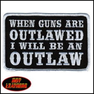 Hot Leather Patch When Guns Are Outlawed 4in
