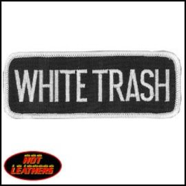Hot Leather Patch White Trash 4in